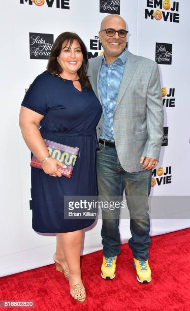 Producer Michelle Kouyate and director Tony Leondis attend the Saks Celebrates World Emoji Day event at Saks Fifth Avenue on July 17 2017 in New York...