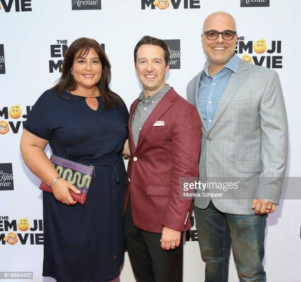 Producer Michelle Kouyate Director of Stores for Saks Fifth Avenue John Antonini and director Tony Leondis attend the Saks Fifth Avenue and Sony...