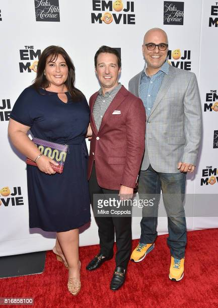 Producer Michelle Kouyate Sakes Fifth Avenue Director of Stores John Antonini and Director Tony Leondis attend the Saks Fifth Avenue window unveiling...