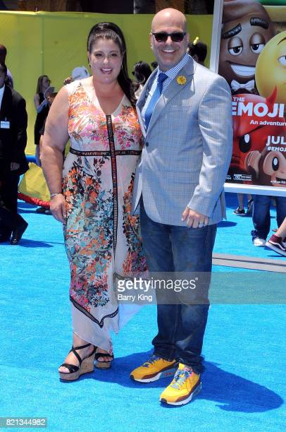 Producer Michelle Raimo Kouyate and director Tony Leondis attend the premiere of Columbia Pictures and Sony Pictures 'The Emoji Movie' at Regency...