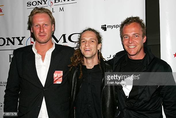 Producer Mikael Rieks Director Milos Loncarevic and Director Asger Leth attend the Ghosts of Cite Soleil premiere party during the Toronto...