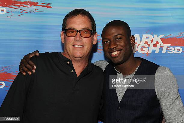 Producer Mike Fleiss and actor Sinqua Walls arrive at Shark Night screening at Universal CityWalk on September 1 2011 in Universal City California