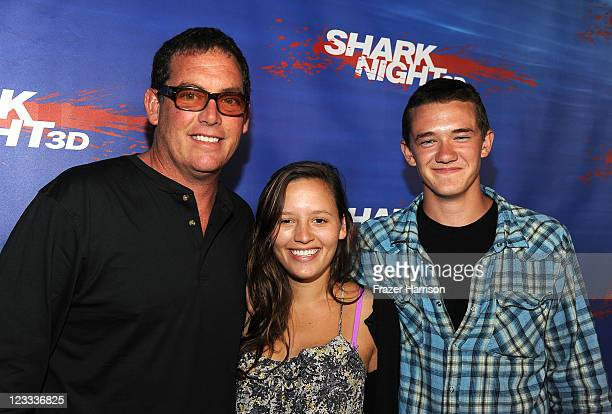 Producer Mike Fleiss and guests arrive at Shark Night screening at Universal CityWalk on September 1 2011 in Universal City California