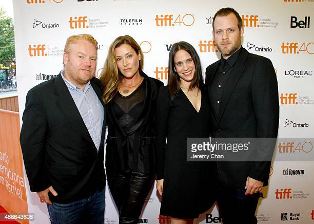 Producer Mike Harrop writers Paige Dylan Amy Koppelman and director Adam Salky attend the I Smile Back premiere during the 2015 Toronto International...
