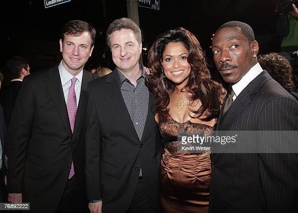 """Producer Mike Karz, director Mark Helfrich, producer Tracey Edmonds and actor Eddie Murphy pose at the premiere of Lionsgate's """"Good Luck Chuck"""" at..."""