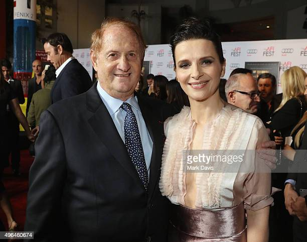 Producer Mike Medavoy and actress Juliette Binoche attend the Centerpiece Gala Premiere of Alcon Entertainment's 'The 33' during AFI FEST 2015...