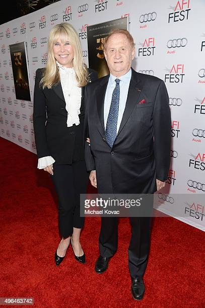 Producer Mike Medavoy and Irena Medavoy attend the Centerpiece Gala Premiere of Alcon Entertainment's The 33 during AFI FEST 2015 presented by Audi...