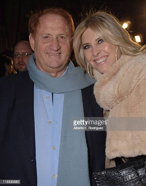 Producer Mike Medavoy and Irena Medavoy during Zodiac Los Angeles Premiere Arrivals at Paramount Studios in Hollywood California United States