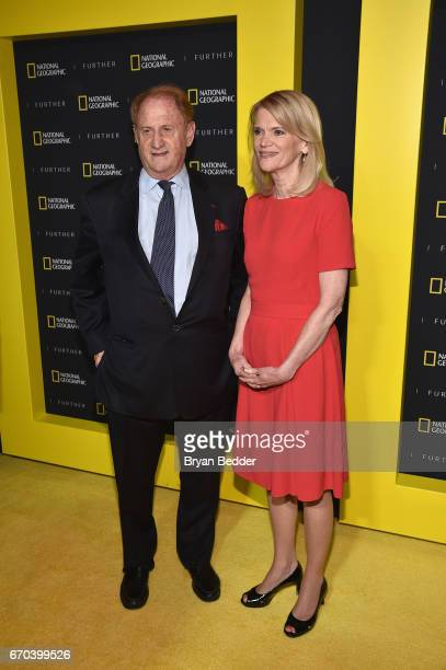 Producer Mike Medavoy and reporter Martha Raddatz at National Geographic's Further Front Event at Jazz at Lincoln Center on April 19 2017 in New York...