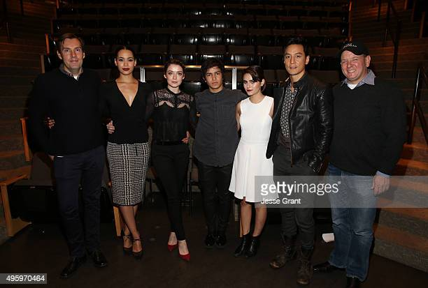 Producer Miles Millar actors Madeleine Mantock Sarah Bolger Aramis Knight Ally Ioannides and Daniel Wu and producer Al Gough attend AMC and CAPE...