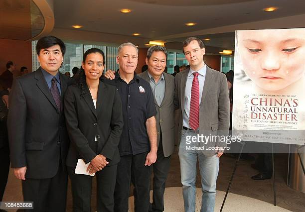 Producer Ming Xia VP of HBO Documentary Programming Jackie Glover codirector Jon Alpert producer Peter Kwong and codirector Matthew O'Neill attend...