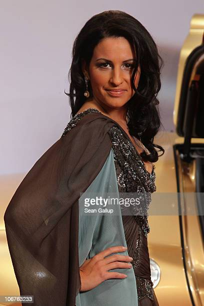 Producer Minu BaratiFischer poses in Unrath Strano at the Bambi 2010 Award at Filmpark Babelsberg on November 11 2010 in Potsdam Germany