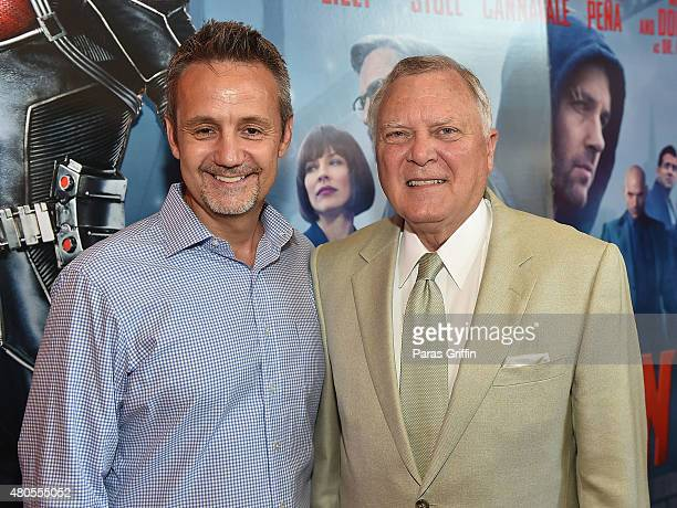 Producer Mitch Bell and Georgia Governor Nathan Deal attend 'AntMan' Atlanta Cast And Crew Screening at Regal Atlantic Station 18 on July 12 2015 in...
