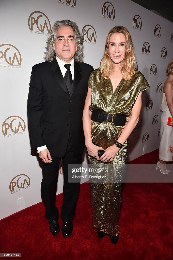 Producer Mitch Glazer (L) actress Kelly Lynch attend the 27th Annual Producers Guild Of America Awards at the Hyatt Regency Century Plaza on January 23, 2016 in Century City, California.