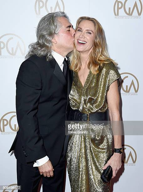 Producer Mitch Glazer and actress Kelly Lynch attend the 27th Annual Producers Guild Awards at the Hyatt Regency Century Plaza on January 23, 2016 in...