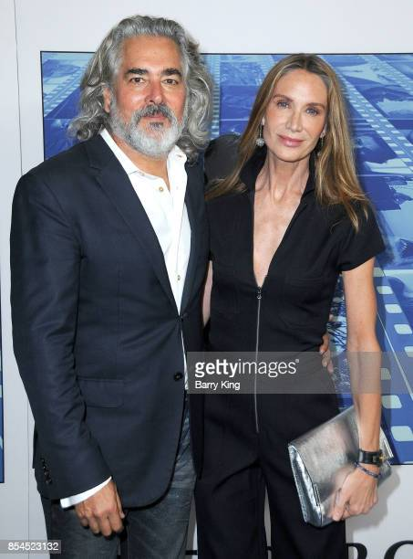 Producer Mitch Glazer and wife actress Kelly Lynch attend the premiere of HBO's 'Spielberg' at Paramount Studios on September 26 2017 in Hollywood...