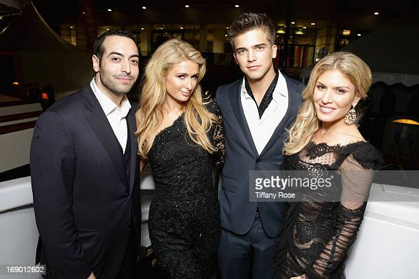 Producer Mohammed Al Turki Paris Hilton model River Viiperi and Hofit Golan attend the Zero Theorem Party Hosted by Terry Gilliam The 66th Annual...