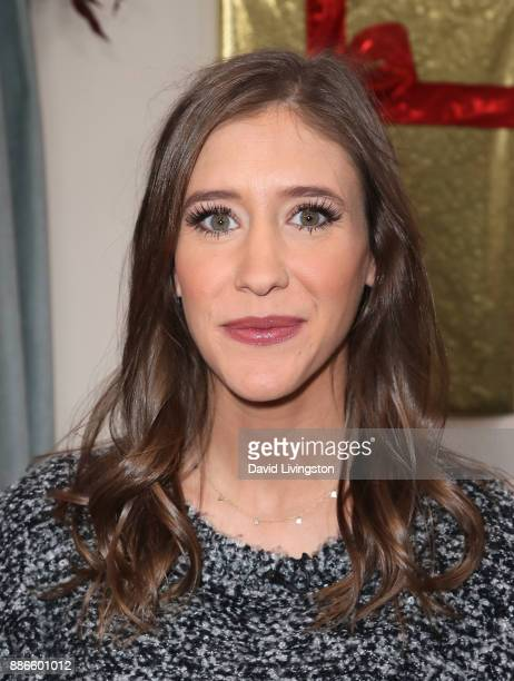 Producer Molly Mae Thompson visits Hallmark's Home Family at Universal Studios Hollywood on December 5 2017 in Universal City California