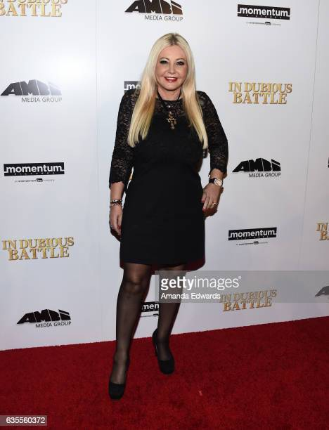Producer Monika Bacardi arrives at the premiere of Momentum Pictures' 'In Dubious Battle' at ArcLight Hollywood on February 15 2017 in Hollywood...