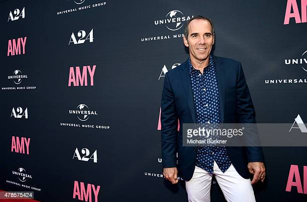 Producer Monte Lipman Chairman CEO Republic Records arrives at the premiere of A24 Films 'Amy' at ArcLight Cinemas on June 25 2015 in Hollywood...