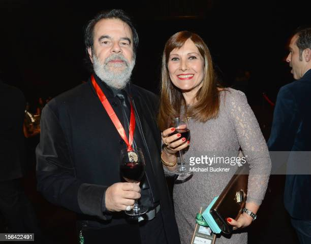 Producer Moogie Canazio poses during the 2012 Person of the Year honoring Caetano Veloso at the MGM Grand Garden Arena on November 14 2012 in Las...