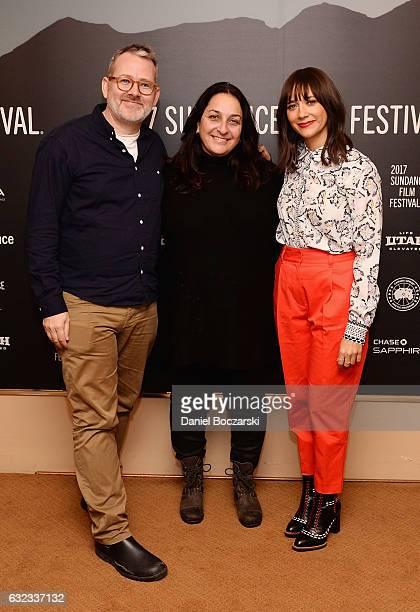 Producer Morgan Neville producer Caroline Libresco and actress Rashida Jones attends the Docuseries Showcase on day 3 of the 2017 Sundance Film...