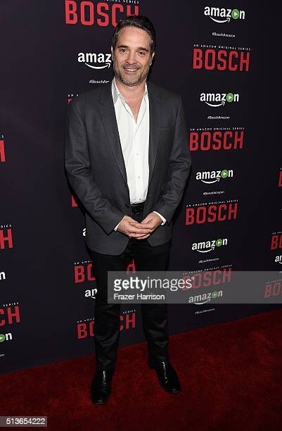 Producer Morgan Wandell arrrives at the Premiere Of Amazon's 'Bosch' Season 2 at SilverScreen Theater at the Pacific Design Center on March 3 2016 in...
