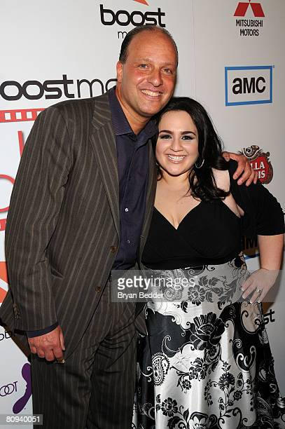 Producer Morris Levy and actress Nikki Blonsky attend the premiere party for Harold hosted by the Boost Mobile film lounge at 1 Oak on April 30 2008...