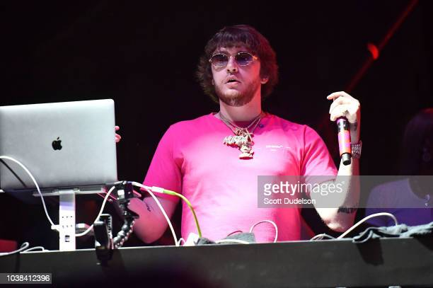 Producer Murda Beatz performs onstage during the 88 Rising Head in the Clouds Festival at Los Angeles State Historic Park on September 22 2018 in Los...