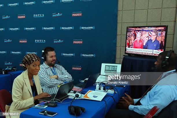 Producer Najah Goldstein joins Ari RabinHavt as he interviews Tallahassee Mayor Andrew Gillum on SiriusXM The Agenda on July 27 2016 in Philadelphia...