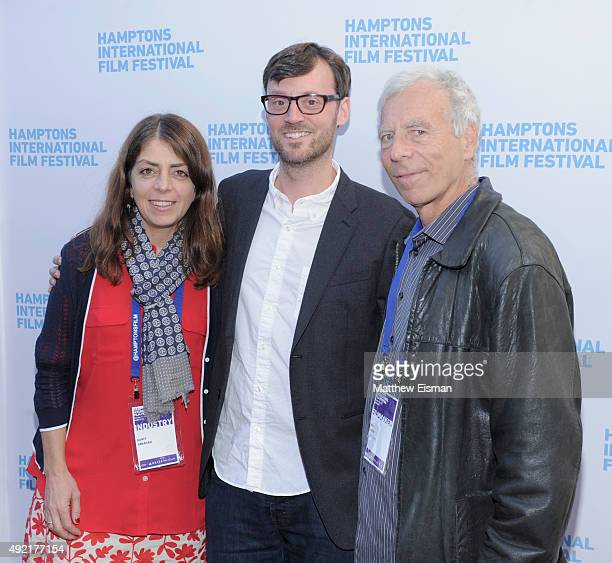 Producer Nancy Abraham HIFF Artistic Director David Nugent and Director Marc Levin attend Day 3 of the 23rd Annual Hamptons International Film...