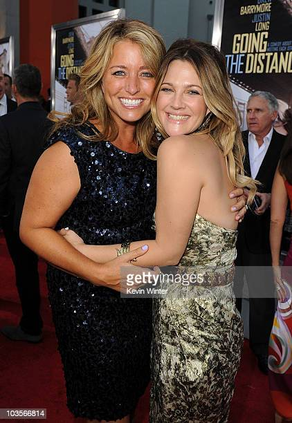 Producer Nancy Juvonen and actress Drew Barrymore arrive at the premiere of Warner Bros Going The Distance held at Grauman's Chinese Theatre on...