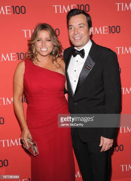 Producer Nancy Juvonen and comedian Jimmy Fallon attend the 2013 Time 100 Gala at Frederick P Rose Hall Jazz at Lincoln Center on April 23 2013 in...