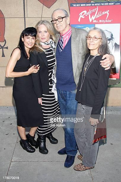Producer Nancye Ferguson actress Beverly D'Angelo artist Robert Williams and Susan Williams attend the screening of Robert Williams Mr Bitchin at...