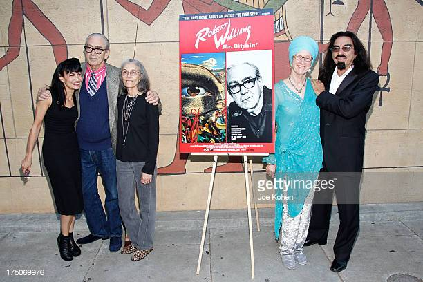 Producer Nancye Ferguson artist Robert Williams Susan Williams Peggy DiCaprio and George Dicaprio attend the screening of Robert Williams Mr Bitchin...
