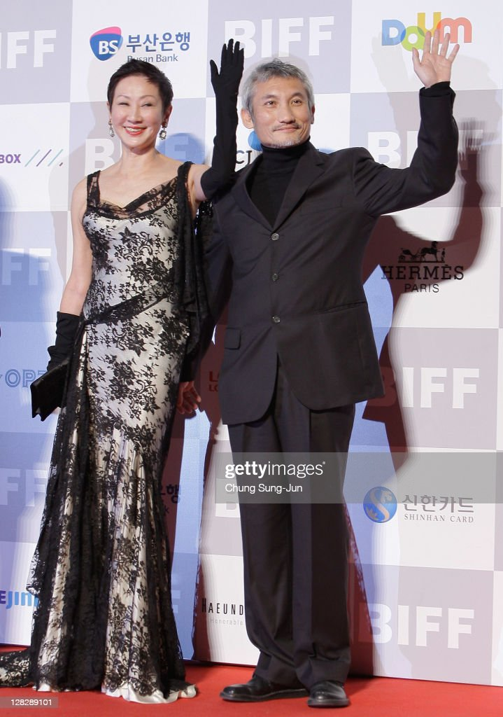 Producer Nansun Shi and Director Hark Tsui arrive for the opening ceremony of the 16th Busan International Film Festival (BIFF) at the Busan Cinema Center on October 6, 2011 in Busan, South Korea. The biggest film festival in Asia showcases 307 films from 70 countries and runs from October 6-14.