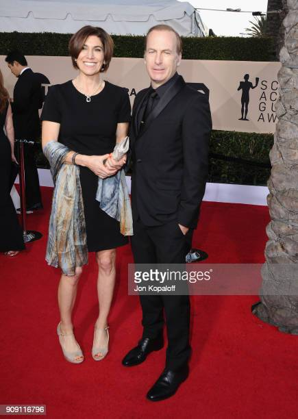 Producer Naomi Odenkirk and actor Bob Odenkirk attend the 24th Annual Screen Actors Guild Awards at The Shrine Auditorium on January 21 2018 in Los...