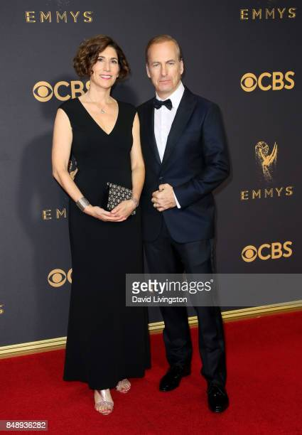 Producer Naomi Odenkirk and actor Bob Odenkirk attend the 69th Annual Primetime Emmy Awards Arrivals at Microsoft Theater on September 17 2017 in Los...