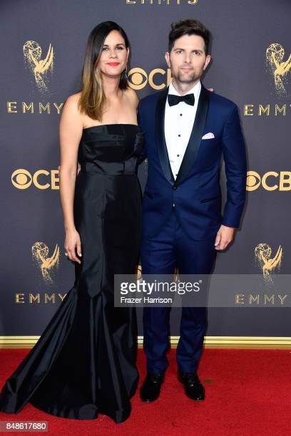 Producer Naomi Scott and actor Adam Scott attend the 69th Annual Primetime Emmy Awards at Microsoft Theater on September 17 2017 in Los Angeles...