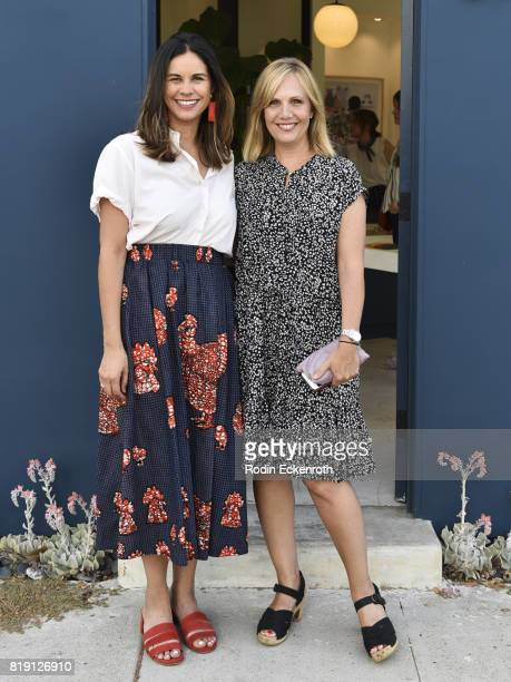 Producer Naomi Scott and writer Julie Rudd attend the release party for Fun Mom Dinner at Clare V on July 19 2017 in West Hollywood California