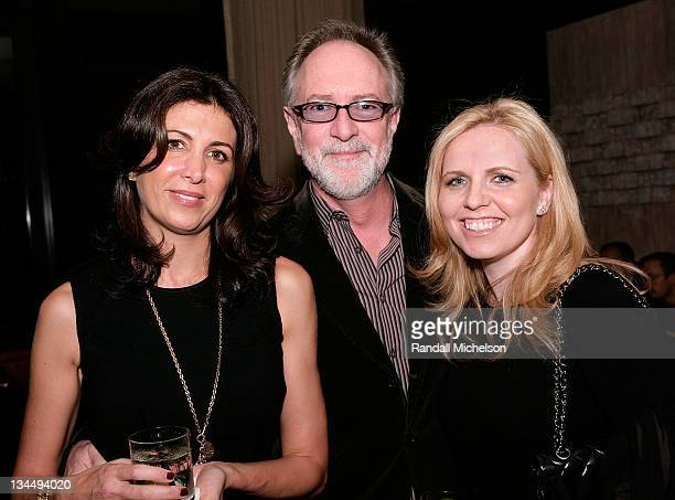 Producer Nathalie Marciano Actor Gary Goetzman and Producer Michelle Chydzik attend the My Life In Ruins Cocktail Reception at Abode Restaurant in...