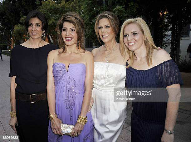 Producer Nathalie Marciano actors Nia Vardalos Rita Wilson and producer Michelle Chydzik pose at the premiere of Fox Searchlight's My Life in Ruins...