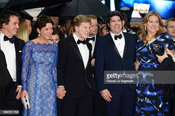Producer Neal Dodson Sibylle Szaggars actor Robert Redford actor J C Chandor and his wife Mary Cameron Goodyear attend the 'All Is Lost' Premiere...