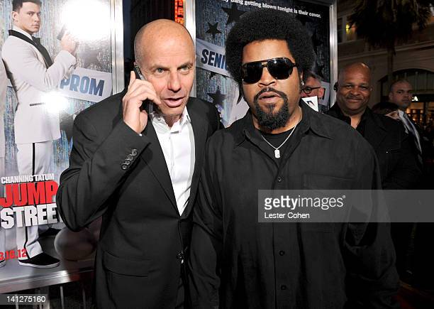 Producer Neal Moritz and actor Ice Cube arrive at the Los Angeles premiere of '21 Jump Street' at Grauman's Chinese Theatre on March 13 2012 in...
