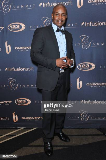 Producer Neko Sparks attends City Summit Wealth Mastery And Mindset Edition afterparty at Allure Banquet Catering on July 11 2018 in Van Nuys...