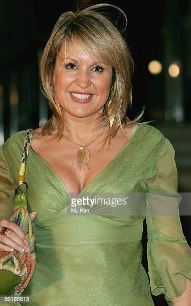 Producer Nicki Chapman arrives at the 25th Anniversary BRIT Awards 2005 at Earl's Court February 9 2005 in London