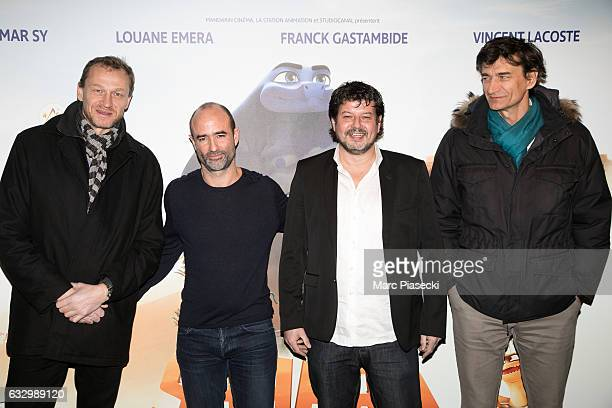 Producer Nicolas Altmayer director Pierre Core producers Christian Ronget and Eric Altmayer attend 'Sahara' Premiere at UGC Cine Cite Bercy on...