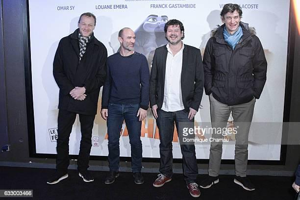 Producer Nicolas Altmayer director Pierre Core producers Christian Ronget and Eric Altmayer attend 'Sahara' Paris Premiere at UGC Cine Cite Bercy on...