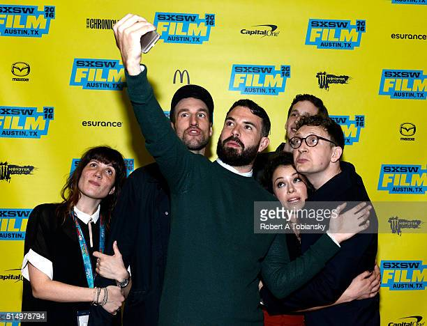Producer Nicole HilliardForde cinematographer Bobby Shore actors Tom Cullen and Tatiana Maslany producer John Laing and writer/director Joey Klein...