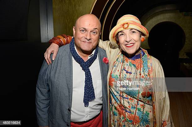 Producer Nigel Daly and fashion sylist Tziporah Salamon attend The Laboratory Arts Collective private Screening of 'Twin Visions' at TCL Chinese...